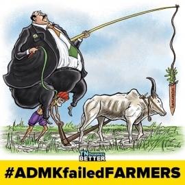 #ADMKfailedFARMERS